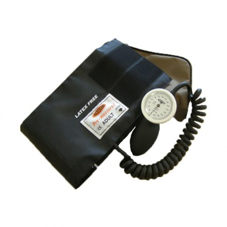 Accoson Limpet Hand Held Aneroid Sphygmomanometer Coiled Tube Cuff